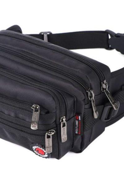 Đồng phục ba lô túi xách – Túi đeo hông màu đen 69