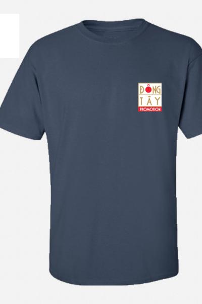 Đồng phục áo thun – Áo thun cổ tròn màu xanh đen 26