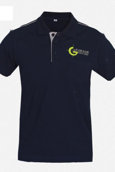 Đồng phục áo thun – Áo thun cổ trụ màu đen 39