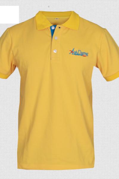 Đồng phục áo thun – Áo thun cổ trụ màu vàng 42