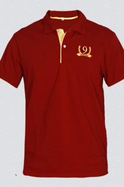 Đồng phục áo thun – Áo thun cổ trụ màu đỏ 45