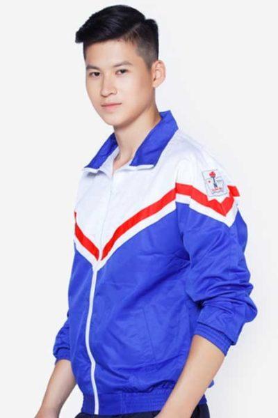 Đồng phục học sinh sinh viên – Áo khoác học sinh màu xanh phối trắng 12