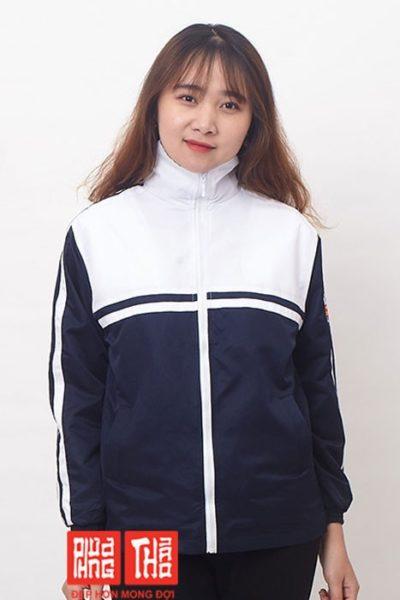 Đồng phục học sinh sinh viên – Áo khoác học sinh màu xanh đen phối trắng 21
