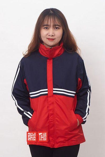Đồng phục học sinh sinh viên – Áo khoác học sinh màu xanh đen phối đỏ 28