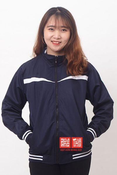 Đồng phục học sinh sinh viên – Áo khoác học sinh màu xanh đen viền trắng 31