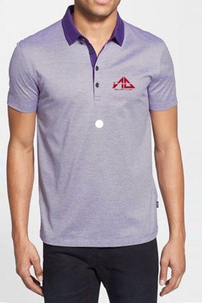 Đồng phục áo thun – Áo thun cổ trụ màu tím 15