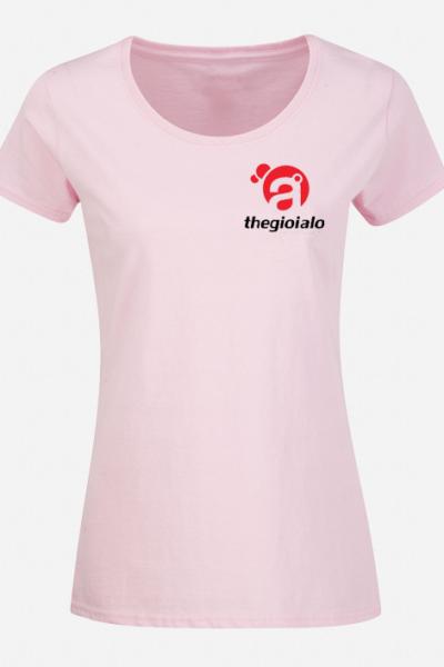 Đồng phục áo thun – Áo thun cổ tròn màu hồng 22