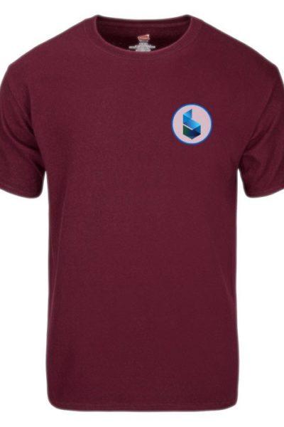 Đồng phục áo thun – Áo thun cổ tròn màu tím 24