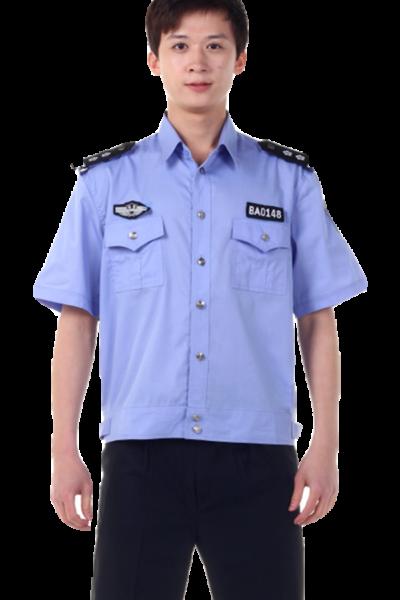 Đồng phục bảo vệ vệ sĩ – Quần áo bảo vệ vệ sĩ áo sơ mi xanh quần tây đen 30