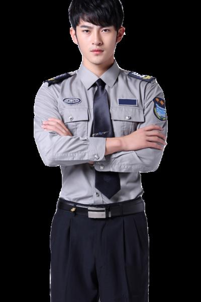 Đồng phục bảo vệ vệ sĩ – Quần áo bảo vệ vệ sĩ áo sơ mi xám quần tây đen 29