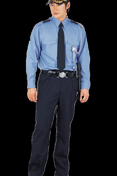 Đồng phục bảo vệ vệ sĩ – Quần áo bảo vệ vệ sĩ áo sơ mi xanh quần tây đen 31