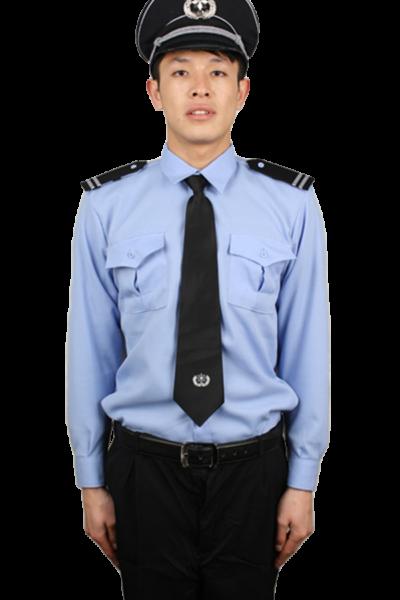 Đồng phục bảo vệ vệ sĩ – Quần áo bảo vệ vệ sĩ áo sơ mi xanh quần tây đen cavat đen 35