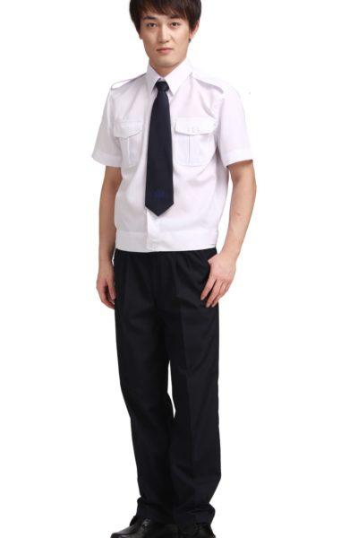 Đồng phục bảo vệ vệ sĩ – Quần áo bảo vệ vệ sĩ áo sơ mi trắng quần tây đen cavat đen26