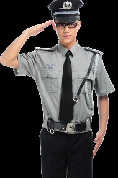 Đồng phục bảo vệ vệ sĩ – Quần áo bảo vệ sĩ áo xám quần tây đen cavat đen 27