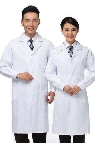Đồng phục bênh viện – Đồng phục áo blouse màu trắng tay dài 24