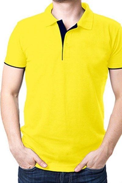 Đồng phục áo thun – Áo thun cổ trụ màu vàng 10