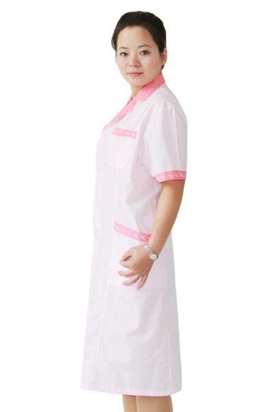 Đồng phục bệnh viện – Đồng phục y tá màu trắng viền hồng 49