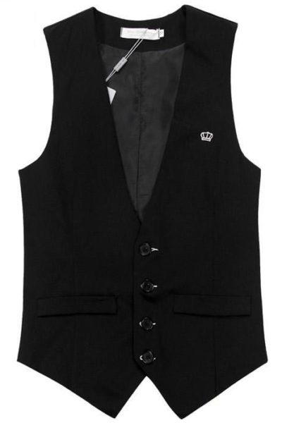 Đồng phục công sở – Áo ghi lê nam màu đen 27