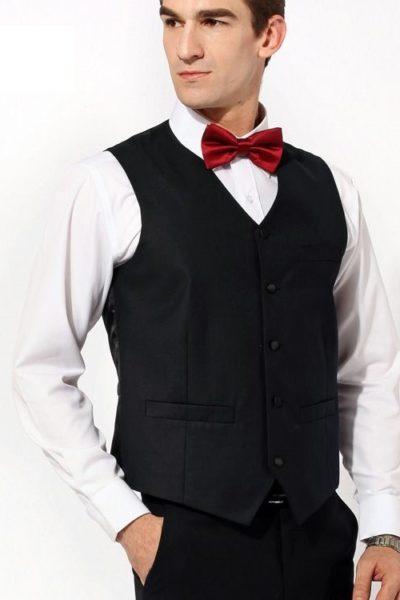 Đồng phục công sở – Áo ghi lê nam màu đen 34