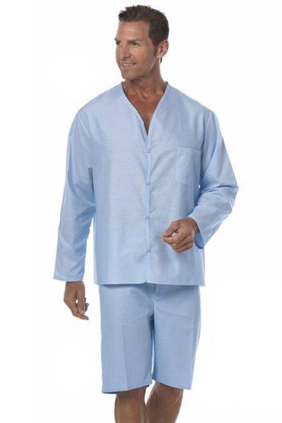 Đồng phục bệnh viện – Đồng phục bệnh nhân dài tay màu xanh dương 11