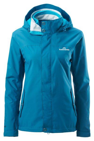 Đồng phục áo khoác – Áo khoác gió có nón màu xanh ngọc 34