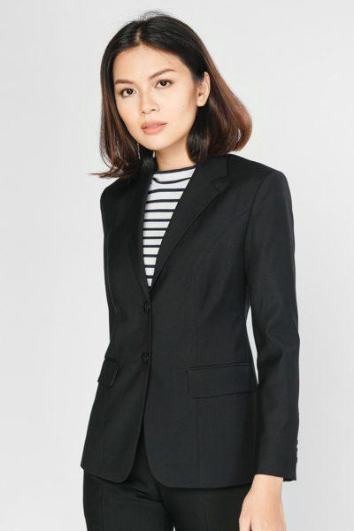 Đồng phục công sở – Áo vest nữ màu đen 106