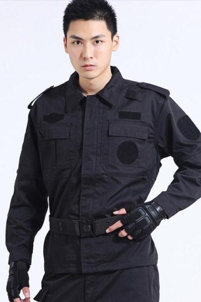 Đồng phục bảo vệ vệ sĩ – Quần áo bảo vệ vệ sỹ dài tay màu đen 49