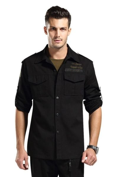 Đồng phục bảo vệ vệ sĩ – Quần áo bảo vệ vệ sỹ dài tay màu đen 55