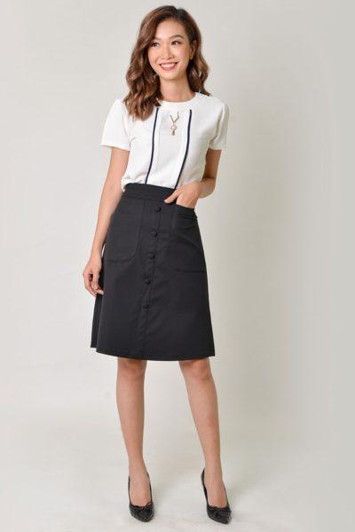 Đồng Phục Công Sở- Chân váy nữ chữ A màu đen 109