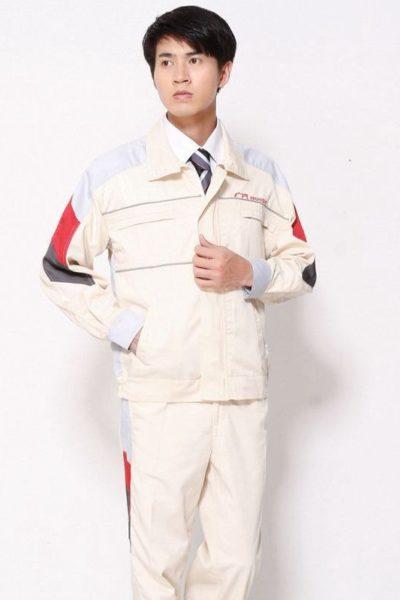 Đồng phục bảo hộ lao động – Quần áo bảo hộ lao động honda màu kem 104