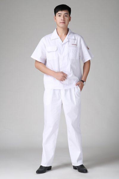 Đồng phục bảo hộ lao động – Quần áo bảo hộ lao động honda màu trắng 105