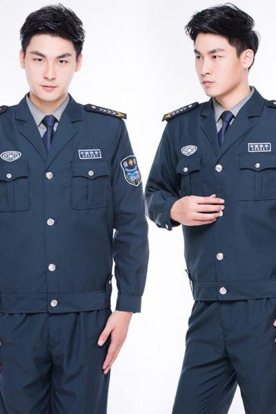 Đồng Phục Bảo Vệ Vệ Sĩ-Quần Áo Bảo Vệ Vệ Sĩ Màu Xanh 95