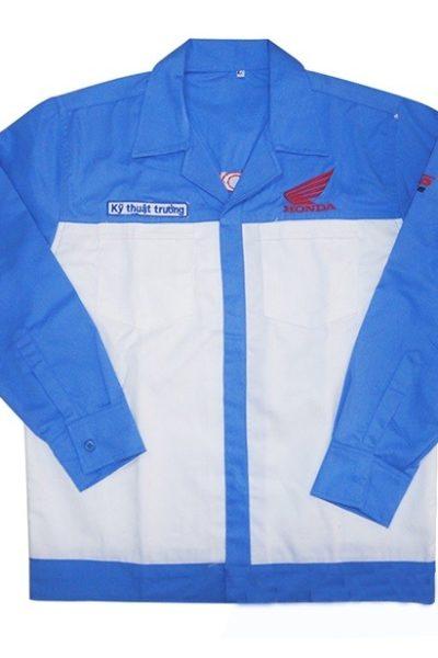 Đồng phục bảo hộ lao động – Quần áo bảo hộ lao động honda màu xanh dương 106