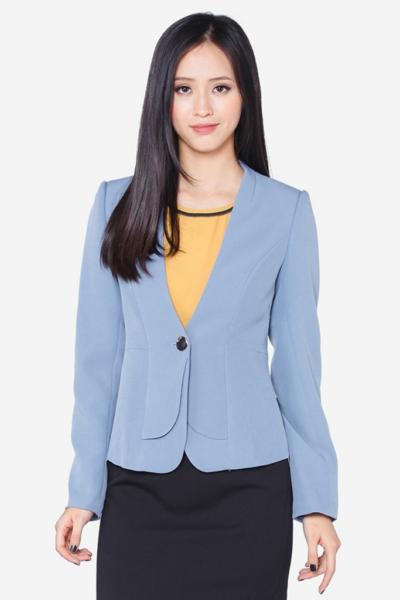 Đồng phục công sở – Áo vest nữ màuxanh da trời 109