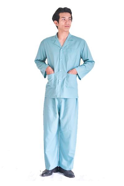 Đồng phục bệnh viện – Đồng phục bệnh nhân dài tay màu xanh 30