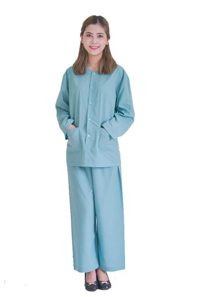 Đồng phục bệnh viện – Đồng phục bệnh nhân dài tay màu xanh 31