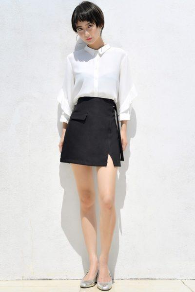 Đồng Phục Công Sở- Chân váy nữ ngắn màu đen 111