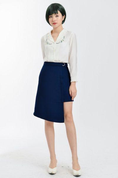 Đồng Phục Công Sở- Chân váy nữ màu xanh dương 112