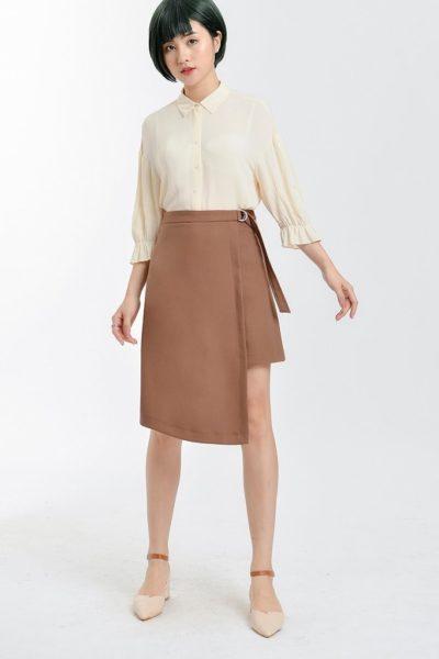 Đồng Phục Công Sở- Chân váy nữ màu nâu 113