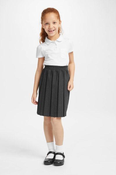 Đồng phục học sinh sinh viên – Đồng phục học sinh cấp II váy xếp li, áo thun cổ trụ tay ngắn 72