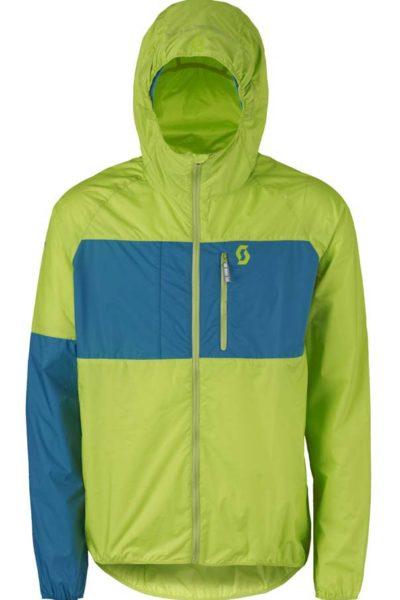 Đồng phục áo khoác – Áo khoác gió có nón màu xanh lá phối xanh 107