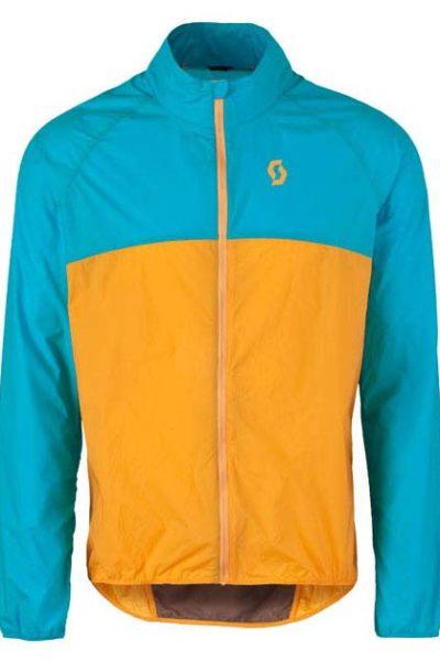 Đồng phục áo khoác – Áo khoác gió có nón màu cam phối xanh 108