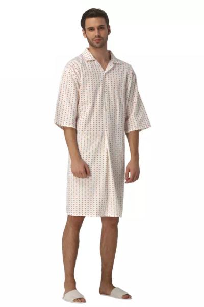 Đồng phục bệnh viện – Đồng phục bệnh nhân màu trắng họa tiết 66