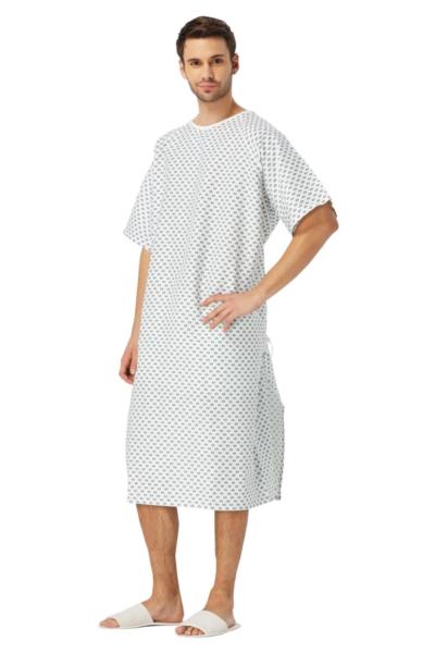 Đồng phục bệnh viện – Đồng phục bệnh nhân màu trắng họa tiết 67