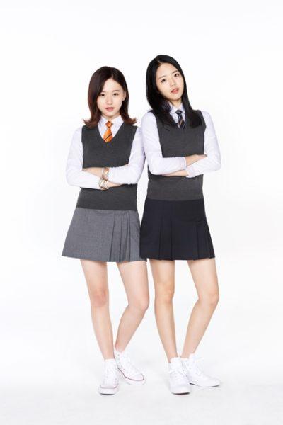 Đồng phục học sinh sinh viên – Đồng phục học sinh cấp II váy xếp li, áo sơ mi trắng dài tay, áo len gile 73