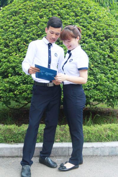 Đồng phục học sinh sinh viên – Đồng phục sinh viên áo sơ mi trắng quần dài xanh đen 33