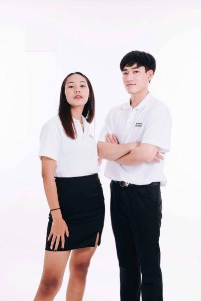 Đồng phục học sinh sinh viên – Đồng phục sinh viên áo thun cổ trụ màu trắng 24
