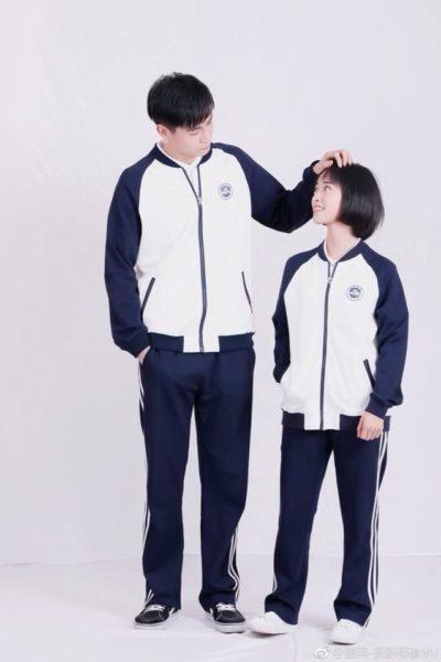 Đồng phục học sinh sinh viên – Áo khoác học sinh màu trắng phối xanh 35