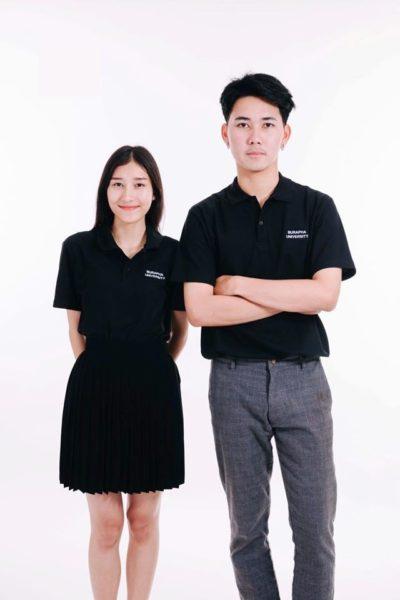 Đồng phục học sinh sinh viên – Đồng phục sinh viên áo thun cổ trụ màu đen 27