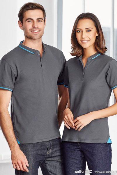 Đồng phục áo thun – Áo thun cổ trụ màu xám 125